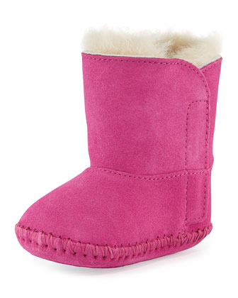 Infant Caden Suede Bootie, Princess Pink