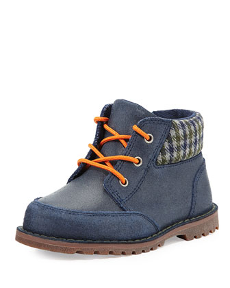 Toddler Orin Boot With Flannel Collar, Navy, Sizes 6-11T