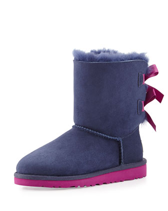 Toddler Bailey Boot with Bow, Peacoat (Blue), 6T-12T