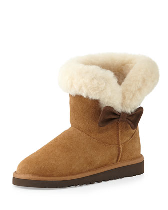 Kids' Kourtney Suede Boot, Chestnut, 13T-6Y