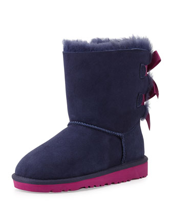 Bailey Boot with Bow, Peacoat, Youth