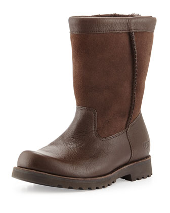Kids' Riverton Leather Pull-On Boot, Chocolat, 10T-6Y
