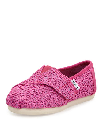Crochet Classic Slip-On, Fuchsia, Tiny