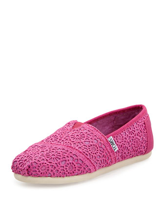 Crochet Classics Slip-On, Fuchsia, Youth