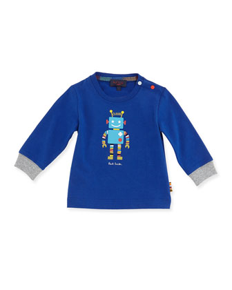 Robot Long-Sleeve Tee, Boys' 3M-3T