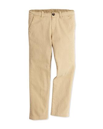 Chino Pants, Stone, Boys' 8-12