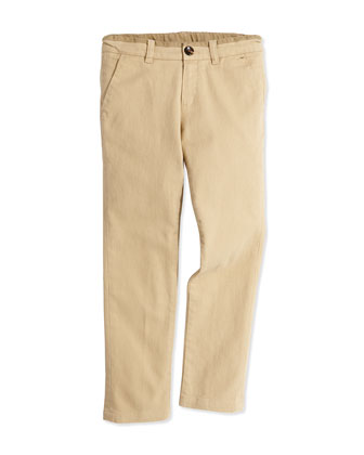 Chino Pants, Stone, Boys' 2T-6T