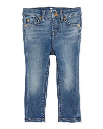 Five-Pocket Skinny Jeans, Light Cobalt Blue, 12-24 Months