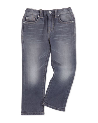 Straight-Leg Jeans, Vesper Gray, Sizes 7-14