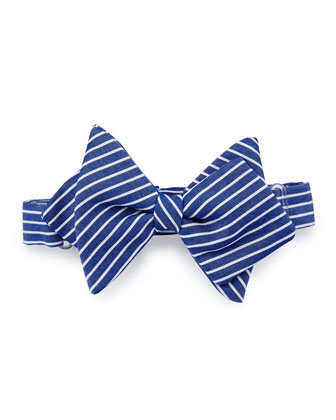 Striped Baby Bow Tie, Blue/White