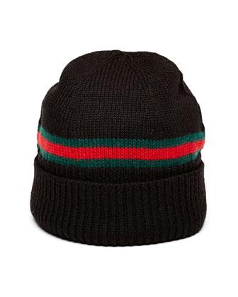 Children's Web-Detail Knit Hat