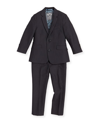 Boys' Two-Piece Mod Suit, Vintage Black, 2T-14
