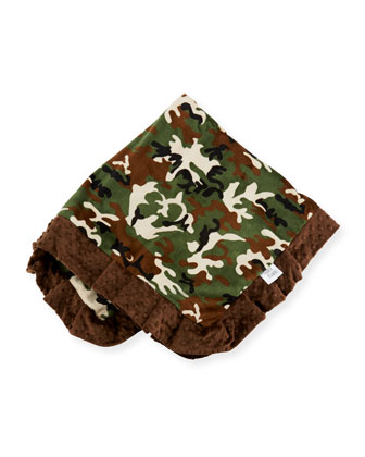Camouflage Receiving Blanket, Brown
