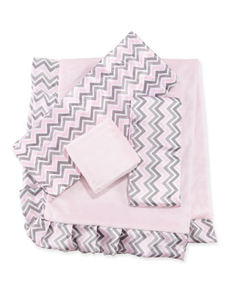 Chevron Security Blanket, Pink