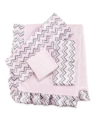 Chevron Receiving Blanket, Pink