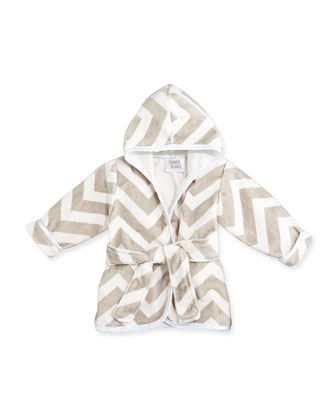 Infant Chevron Robe, Slate
