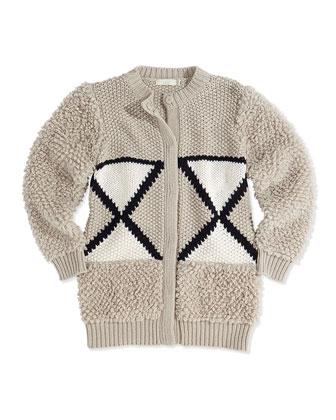 Knit Wool-Blend Cardigan, 2Y-14Y