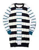 Striped Cotton/Cashmere Sweaterdress, 2Y-14Y