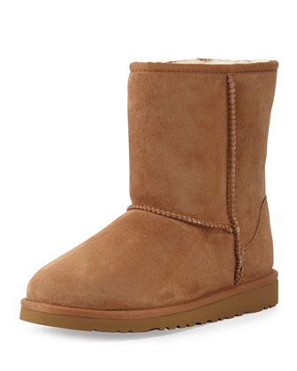 Kids Classic Short Boot, Chestnut