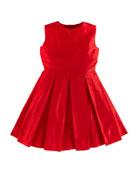 Taffeta Ballet-Style Party Dress, Red, Girls' 2Y-14Y
