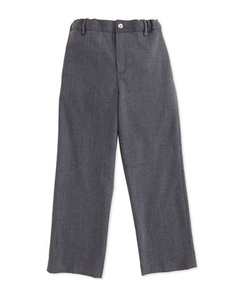Classic Wool-Blend Pants, Gray, 2Y-10Y