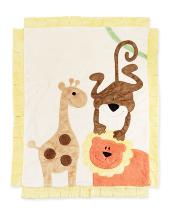 Wild Ones Animal Blanket, Cream