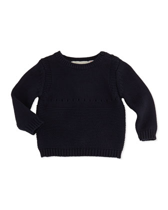 Baby Bunny Knit Sweater, Navy, 3-24 Months