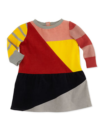 Colorblock Corduroy Dress, 3-24 Months
