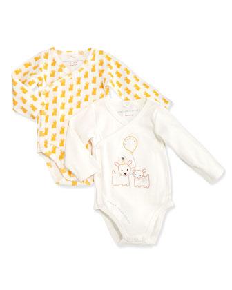 Birdie Baby Long-Sleeve Playsuit Set, Ivory, 3-18 Months