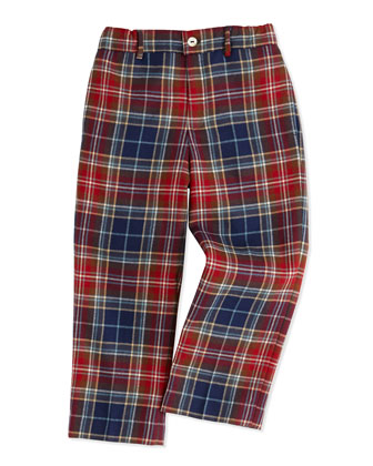 Wool Blazer, Pique Dress Shirt & Plaid Classic Pants