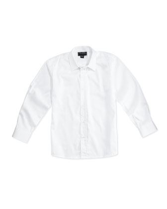Pique Dress Shirt, White, 2Y-10Y