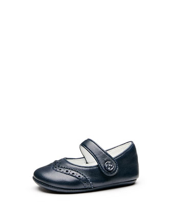Baby Wing-Tip Ballet Flat, Blue
