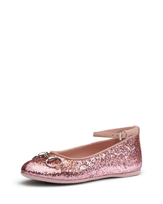 Glittered Ballet Flat with Horsebit
