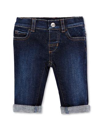 Web-Detail Stretch-Denim Jeans, 0-36 Months