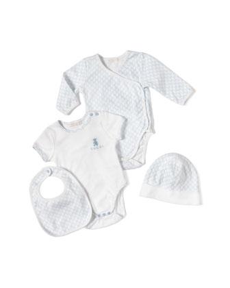 4-Piece Baby Boy Gift Set, White/Blue