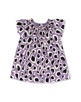 Leopard-Print Dress, Lilac, Girls' 0-36 Months