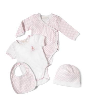 4-Piece Baby Girl Gift Set, White/Pink