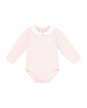 GG Teddy Long-Sleeve Bodysuit, Pink, Girls' 0-24 Months
