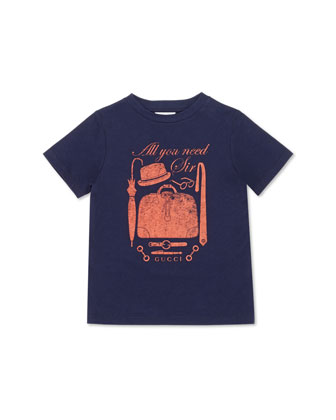 All You Need Sir Jersey Tee, Orange, Kids' Sizes 4-12