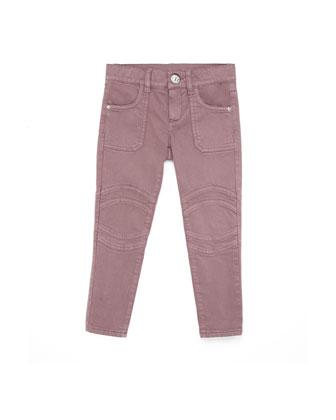 Skinny Stretch Cotton Jeans, Amethyst, 4Y-12Y