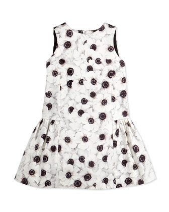 Camellia Bow-Back Party Dress, Girls' 2-7