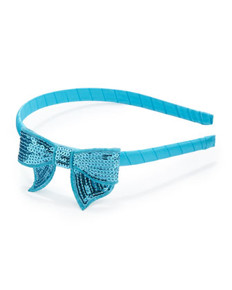 Girls' Headband with Sequined Bow
