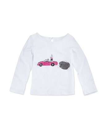 Long-Sleeve Graphic Tee, Girls' 2-7
