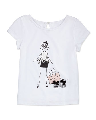 Girlie Graphic-Print Tee, Girls' 8-12
