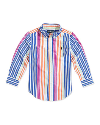 Boys' Blake Multistriped Poplin Shirt
