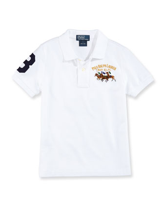 Mesh Match-Embroidered Polo, Boys' 4-7
