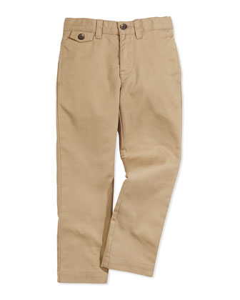 Boys' Lightweight Chino Pants, Boating Khaki
