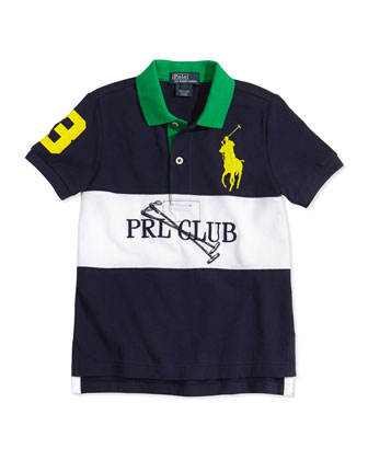 Colorblock Mesh Polo Shirt, Boys' 2T-3T
