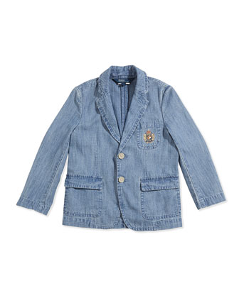 Puckered Chambray Sport Coat, Boys' 2T-3T