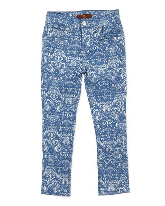 Jacquard Skinny Pants, Girls' Sizes 4-6X
